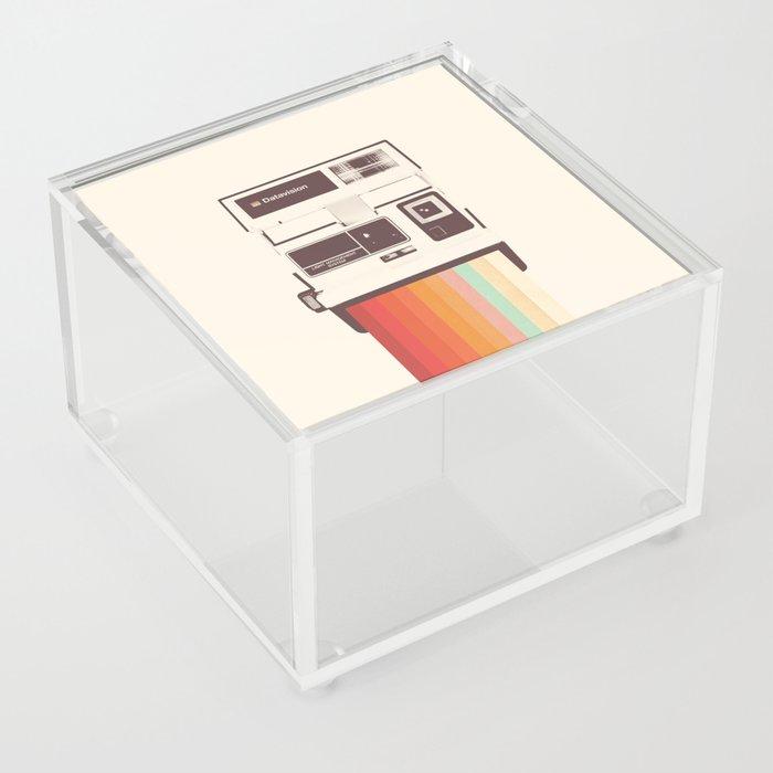Instant Camera Rainbow Acrylic Box