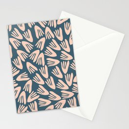 Papier Découpé Modern Abstract Cutout Pattern in Pale Blush and Deep Teal  Stationery Cards