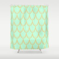mermaid Shower Curtains featuring Mermaid  by Aneela Rashid
