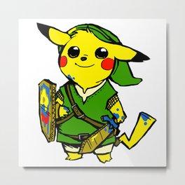 PikachuZelda Metal Print