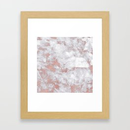 Marble Rose Gold - Lost Framed Art Print