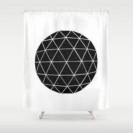 Geodesic Shower Curtain