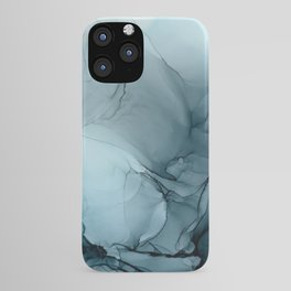 Blue Ocean Fog Calming Abstract iPhone Case