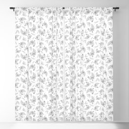 Pattern with turkey and feathers Blackout Curtain