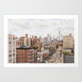 NYC on Saturday Art Print