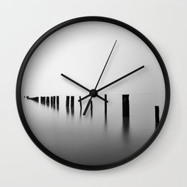 Sea Pillars I Wall Clock
