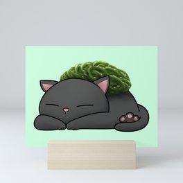 Chuka Wakame Sushi Cat Mini Art Print