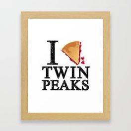 I Love Twin Peaks (Cherry Pie) Framed Art Print