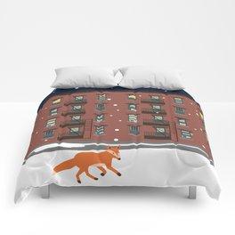 Winter in New York Comforters