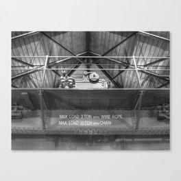Gantry crane in black and white Canvas Print