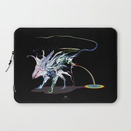 Rat and rainbow. multicolored on dark background - (Red eyes series) Laptop Sleeve