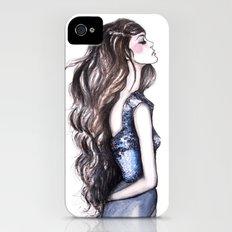 Long Locks // Fashion Illustration iPhone (4, 4s) Slim Case