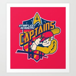 Starfleet Academy Captains Baseball Art Print