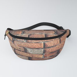 Weathered Red Brick Wall Texture Fanny Pack