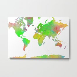 World Map 7 Metal Print