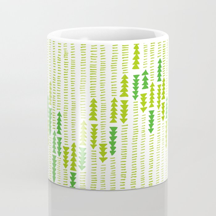 Green Triangle Arrow Trees Coffee Mug
