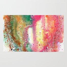 Heart Watercolor Art Rug
