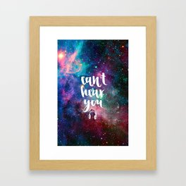 Galaxy Calligraphy Framed Art Print