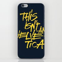 "lettering iPhone & iPod Skins featuring ""Helvetica"" Lettering by Sergi Ferrando"