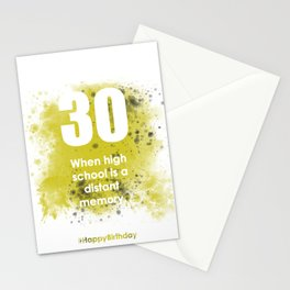 AgeIsJustANumber-30-GreyLimeA Stationery Cards