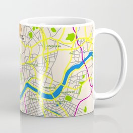 Seoul map Design Coffee Mug