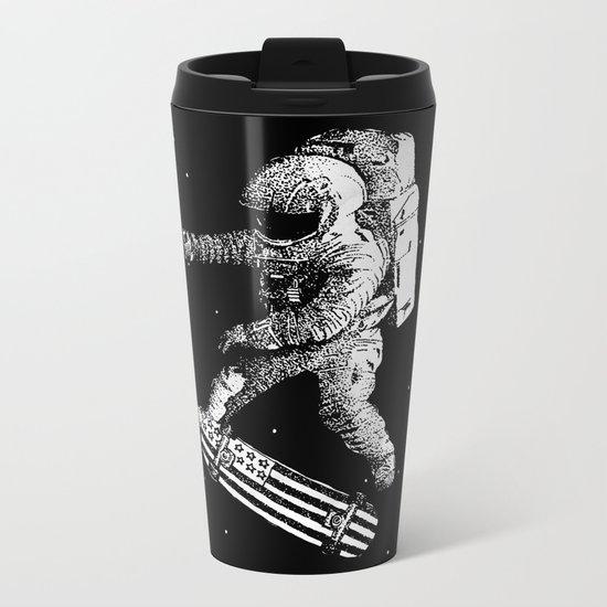 Kickflip in space Metal Travel Mug