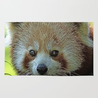 red panda Area & Throw Rugs featuring red Panda by MehrFarbeimLeben