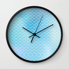 White lace on the watercolor background Wall Clock