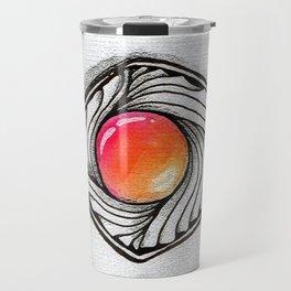 Doodled Gem Sparkle Eye Travel Mug