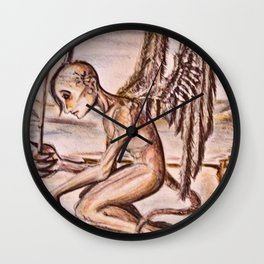 Agel of demons Wall Clock