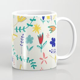 Floral The Tortoise and the Hare is one of Aesop Fables beige Coffee Mug