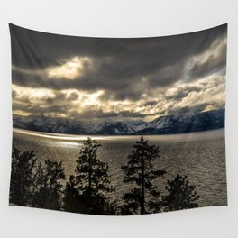 Lake Tahoe Winter Wall Tapestry