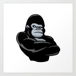 angry  gorilla.black gorilla Art Print