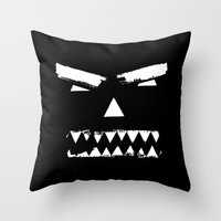 grim fandango Throw Pillows featuring Grim by Marcie Grace