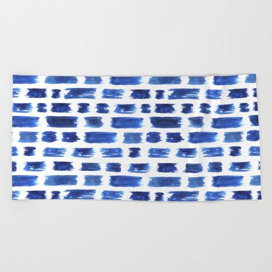 Ultramarine brushstrokes Beach Towel