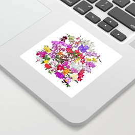 A celebration of orchids Sticker
