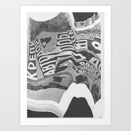 Constructivism Scan Art Print