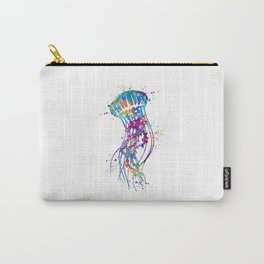 Jellyfish Colorful Watercolor Art Gift Ocean Art Carry-All Pouch