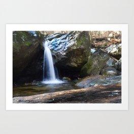 Waterfall at Cascade Falls Art Print