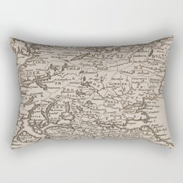 Vintage Map of Scotland (1681) Rectangular Pillow