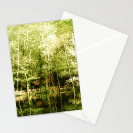 A house in the lake Stationery Cards