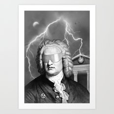 Bach To The Future (New Version) Art Print