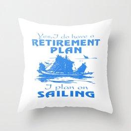 SAILING PLAN Throw Pillow