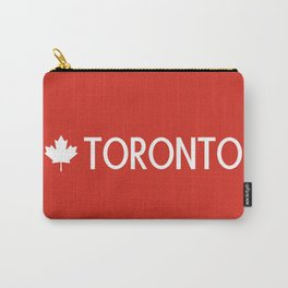 Toronto (White Maple Leaf) Carry-All Pouch