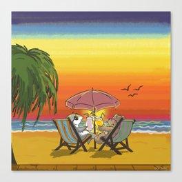 Sunset Buddies Canvas Print
