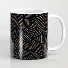 Ab Linear Rainbow Black Mug