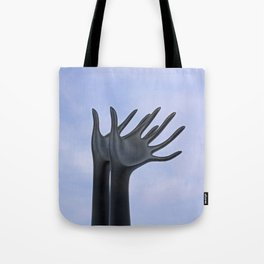 Flying Hands Tote Bag