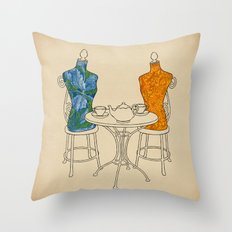 High Tea Throw Pillow
