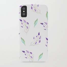 Mint and Leaves iPhone Case