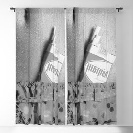 Pack of Mistral menthol, Bare Midriff black and white photograph - photography wall decor advertising vintage poster Blackout Curtain